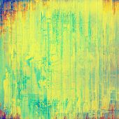 Vintage antique textured background. With different color patterns: blue; orange; yellow; green