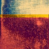 Abstract old background or faded grunge texture. With different color patterns: blue; yellow