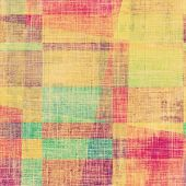 Abstract grunge textured background. With different color patterns: green; red; orange; yellow