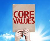Core Values card with beautiful day
