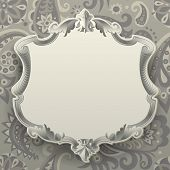 Vintage frame against a  decorative seamless pattern background