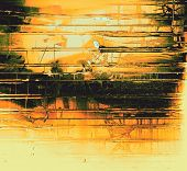 Grunge old texture as abstract background. With different color patterns: orange; yellow; black; green