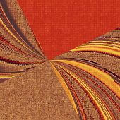 Retro background with old grunge texture. With different color patterns: orange; yellow; brown; red