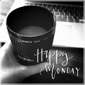 Inspirational Typographic Quote - Happy Monday