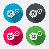 Cog settings sign icon. Cogwheel gear symbol.