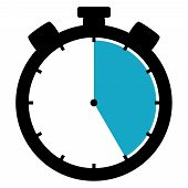 Stopwatch Icon: 25 Minutes / 25 Seconds / 5 Hours