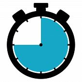 Stopwatch Icon: 45 Minutes / 45 Seconds / 9 Hours