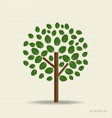 Stylized tree. Vector illustration.