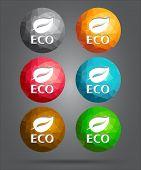 Set Of Icons Eco