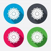 Snowflake artistic sign icon. Air conditioning.