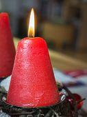 Datail Burning Red Candle