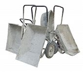 Old Metal Wheelbarrows