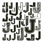 Set Versions Of Letters J