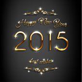 New 2015 year festive background