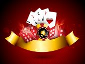 stock photo of dice  - Casino objects set like casino chip - JPG