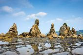 Kushimoto, Wakayama Prefecture, Japan at the Hashi-gui-iwa boulders.