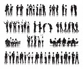 Silhouettes of Successful Business People Working