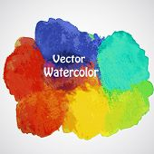 Vector Colorful  Abstract Hand Drawn Watercolor Background