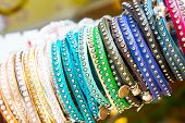 close up of colorful bracelets