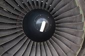picture of rotor plane  - Fan of the turbine engine of plane - JPG