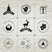 Christmas and New Year symbols. For your designs postcard, invitation, poster and others.