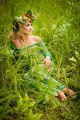 Pretty woman, summer, nature.