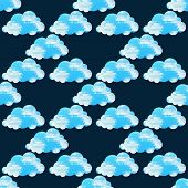 Clouds seamless pattern on a background. Vector illustration