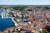 Panorama of famous tourist place in Croatia, Rovinj