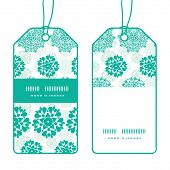 Vector abstract green decorative circles stars striped vertical stripe frame pattern tags set