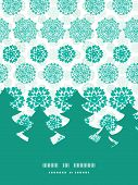 Vector abstract green decorative circles stars striped Christmas tree silhouette pattern frame card