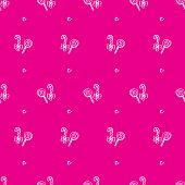 Vector hand drawn lollipop seamless pattern