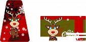 crying reindeer cartoon xmas card