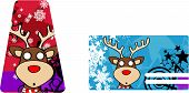 reindeer cartoon xmas card