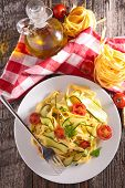 tagliatelle with vegetables