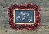 Blackboard Chalkboard Merry Christmas