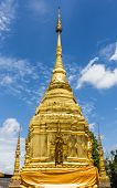 Golden Pagoda With Beauty Sky In Thailand