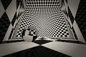 3D Cube Checkered Room