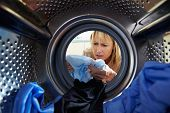 Woman Accidentally Dyeing Laundry Inside Washing Machine
