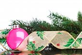 Christmas decoration balls with fir-tree