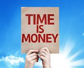 Time Is Money card with beautiful day