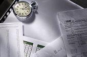 Budget, Calendar And Stopwatch