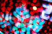 defocused bokeh of lights (celebration new year 2015)