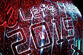 defocused bokeh of lights (celebration new year 2015)