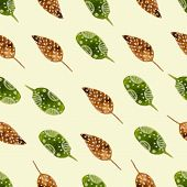 Nature watercolor seamless pattern brunch.