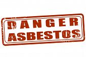 pic of asbestos  - Grunge stamp with text Danger asbestos on vector illustration - JPG