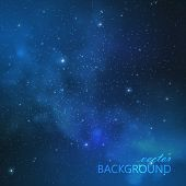 abstract vector background with night sky and stars. illustration of outer space. Milky Way