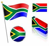 South African Flag Set
