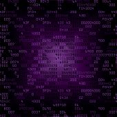 purple security background with HEX-code