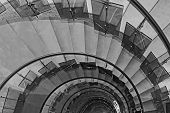 stock photo of spiral staircase  - Spiral staircase  - JPG