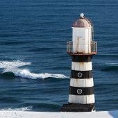 Lighthouse On Coast Of Pacific Ocean. Kamchatka Peninsula